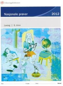 Forside til de nasjonale prøvene i lesing, femte trinn, 2012.