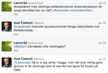 Tweets frå Fjeldavli