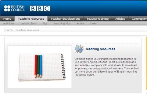 teaching english teaching resources