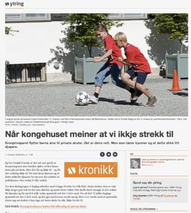 Skjermdump frå NRK Ytring sine sider.